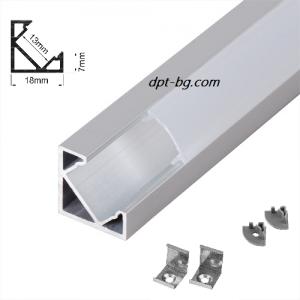 Ъглов алуминиев профил с борд